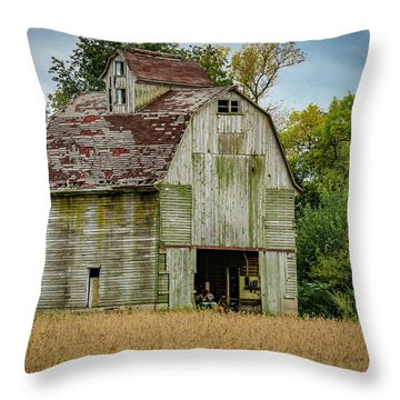 Iowa Barn Throw Pillow