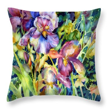 Iris II Throw Pillow