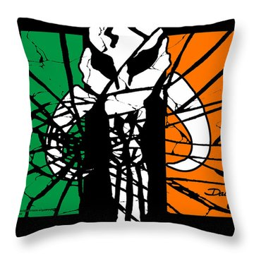 Irish Mandalorian Flag Throw Pillow