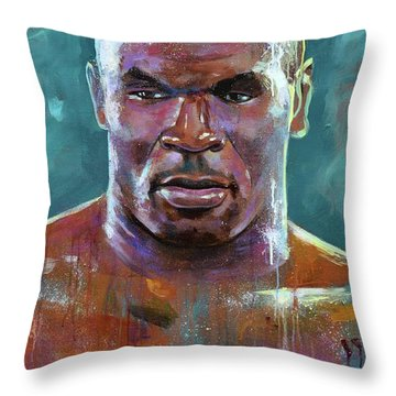 Iron Mike Throw Pillow by Robert Phelps