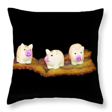 Ironic Pigs Throw Pillow