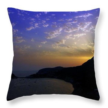 Ischia Awakens Throw Pillow