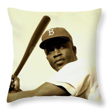 Jackie Robinson 1952 Throw Pillow