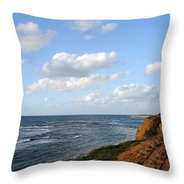 Jaffa Beach 5 Throw Pillow by Isam Awad
