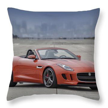 Jaguar F-type Convertible Throw Pillow