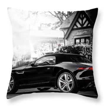 Jaguar F Type S  Throw Pillow by Darek Szupina Photographer