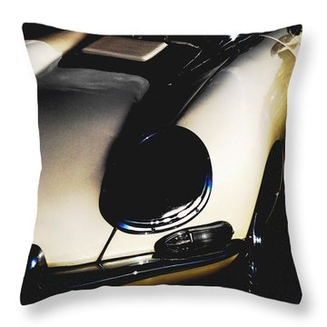 Jaguar In The Night Throw Pillow by Angela Davies