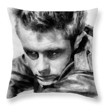 James Dean By John Springfield Throw Pillow