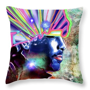 Jamiroquai Throw Pillow by Daniel Janda