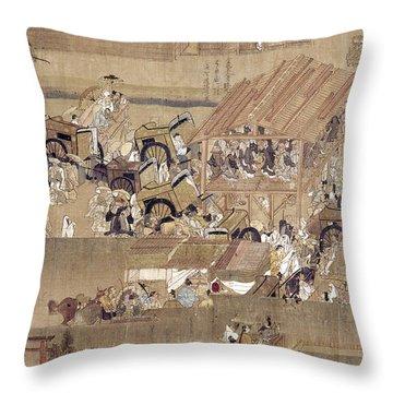 Japan: Buddhist Priest Throw Pillow