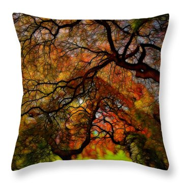 Japanese Maples 2 Throw Pillow