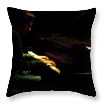 Jazz Estate 7 Throw Pillow by Anita Burgermeister