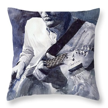 Jazz Guitarist Rene Trossman  Throw Pillow by Yuriy  Shevchuk