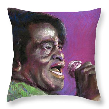 Jazz. James Brown. Throw Pillow by Yuriy  Shevchuk