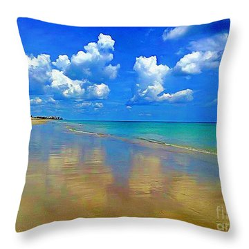 Jensen Beach  Throw Pillow by Patrice Torrillo