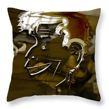 Throw Pillow featuring the mixed media Jerry Lewis by Marvin Blaine