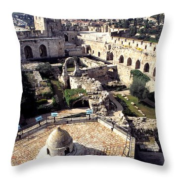 Jerusalem From The Tower Of David Museum Throw Pillow by Thomas R Fletcher