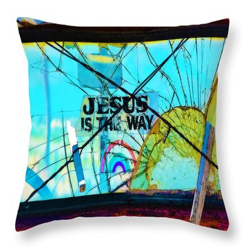 Jesus Is The Way Throw Pillow