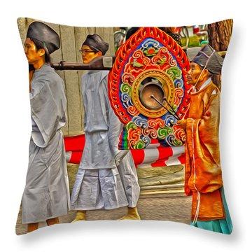 Jidai Matsuri Xxv Throw Pillow by Cassandra Buckley