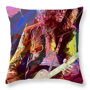 Jimmy Page Les Paul Gibson Throw Pillow