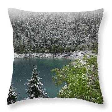 Jiuzhaigou National Park, China Throw Pillow