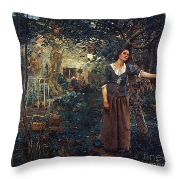 Joan Of Arc C1412-1431 Throw Pillow