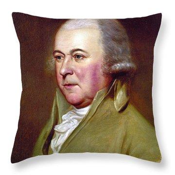 John Adams (1735-1826) Throw Pillow by Granger