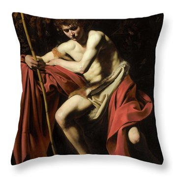 John In The Wilderness Throw Pillow