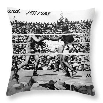 Johnson Vs. Jeffries, 1910 Throw Pillow by Granger
