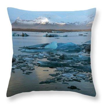 Throw Pillow featuring the photograph Jokulsarlon, The Glacier Lagoon, Iceland 5 by Dubi Roman