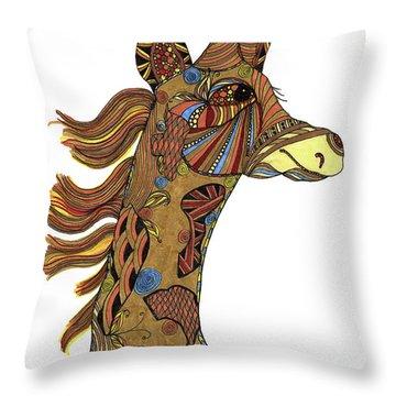 Josi Giraffe Throw Pillow