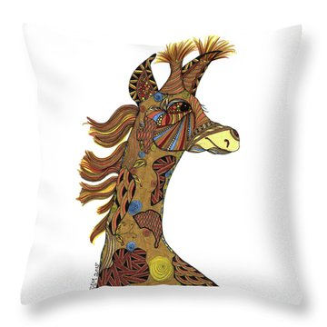 Josi Giraffe Throw Pillow