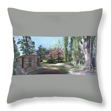 Josie's Cabin Throw Pillow