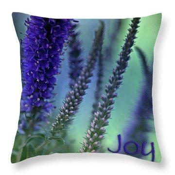 Joy Throw Pillow by Bonnie Bruno