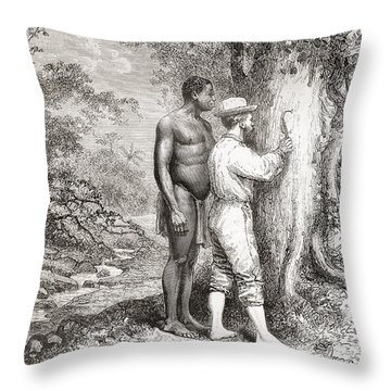 Jules Crevaux, During His Exploration Throw Pillow