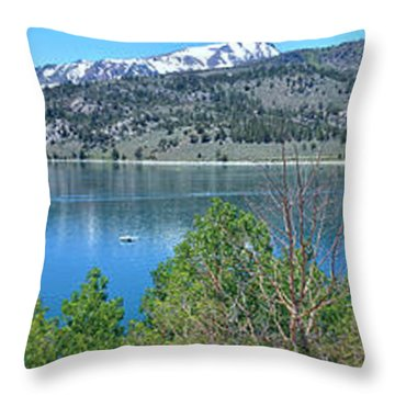 June Lake Panorama Throw Pillow