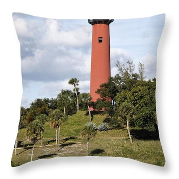 Jupiter Lighthouse Throw Pillow