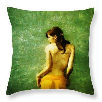 Just A Back Throw Pillow by Gun Legler