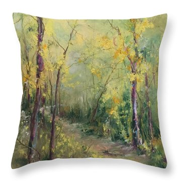 Just A Little Walk Throw Pillow
