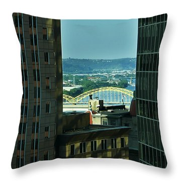 Just Beyond Throw Pillow by Rhonda McDougall