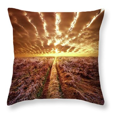Throw Pillow featuring the photograph Just Over The Horizon by Phil Koch