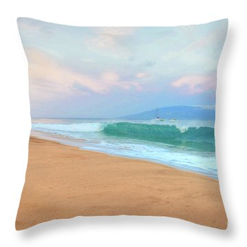 Throw Pillow featuring the photograph Ka'anapali Waves by Kelly Wade