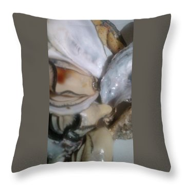 Oysters In Ponzu Vinegar Throw Pillow