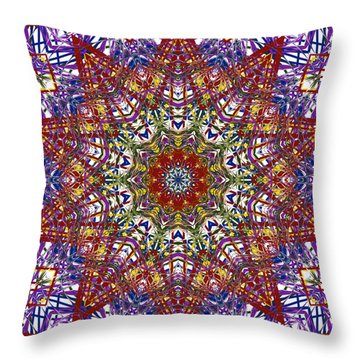 Kaleidoscope 414 Throw Pillow