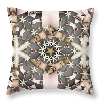 Throw Pillow featuring the digital art Kaleidoscope 97 by Ron Bissett