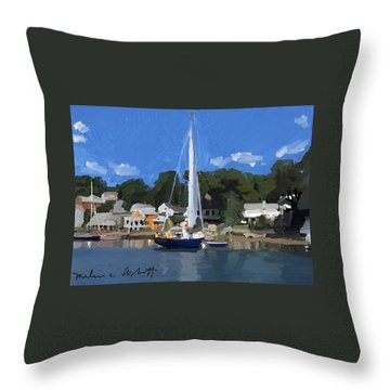 Kanga In Lobster Cove Throw Pillow