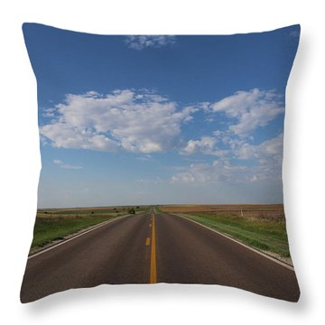 Kansas Road Throw Pillow