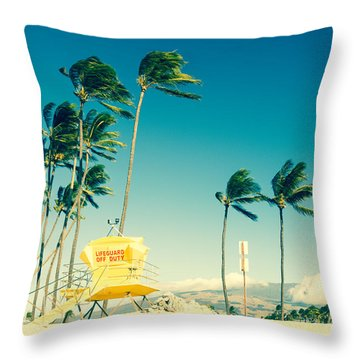 Kapukaulua Beach Maui North Shore Hawaii Throw Pillow
