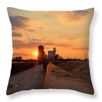 Katy Texas Sunset Throw Pillow