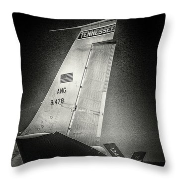 Kc_135 In Flight Refueling Tanker Throw Pillow
